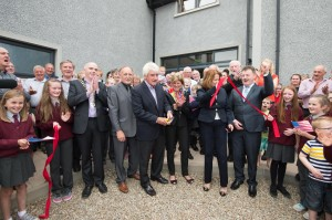at the opening of the Sliabh Snacht Centre on Friday. Photo- Clive Wasson