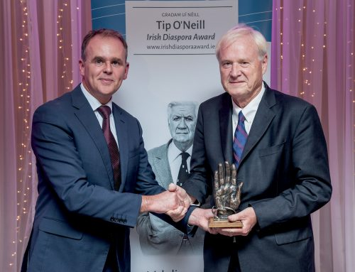 Chris Matthews receives Tip O'Neill Irish Diaspora Award